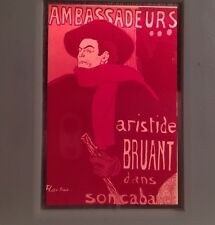 "Toulouse-Lautrec ""ambassadeurs Aristide Bruant""Art Nouveau 35mm French Art Slide"