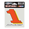 "JAMIE McMURRAY #1 NASCAR 4""X 4"" DIE CUT COLOR DECAL"