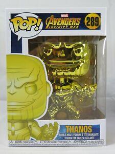 Marvel Funko Pop - Thanos (Yellow Chrome) - Avengers Infinity War - No. 289