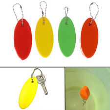 1Pc Foam Floating Buoyant Keychain For Water Sports Swimming Oval Keyring Key