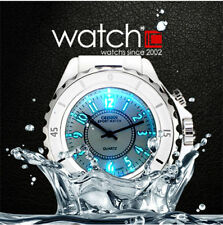 Elegant OHSEN Ladies Womens 7 Colos LED Backlight Analog Sport Wrist Watch White