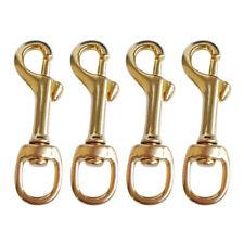 4x Brass Swivel Bolt Snap Hook Buckle Scuba Diving Accessories