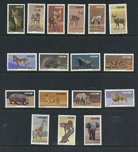 Y359  Southwest Africa  1980  fauna wild animals  17v.   MNH