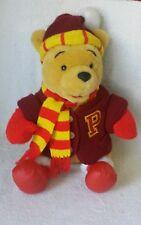"Disney Winnie the Pooh Teddy Bear  Sweater Scarf Hat Plush Sruffed Animal 16"""