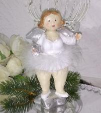 Angelo Angelo di Natale 17cm Bianco Figura Natale Natale Decorazione Shabby Chic