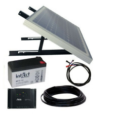 Solar Panel Kit 10W/12V mono, AGM Battery, Steca regulator, mounting & cable set