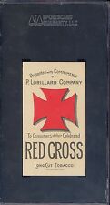 1889 N264 LORILLARD RED CROSS ACTRESSES DELLA FOX SGC 80 LONG CUT TOBACCO CARD