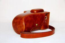 brown leather camera case bag for Nikon SLR D5300 D5200+ 18-55mm / 18-105mm lens