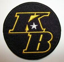 """Kobe Bryant KB Los Angeles Lakers Embroidered PATCH~2 5/8"""" Round~Iron or Sew"""