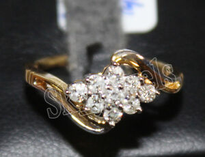 IGI Certified 0.32ct Natural Round Diamond 14K Solid Yellow Gold Wedding Ring
