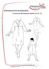 Kleiderschnittmuster  Kimonokleid mit Kellerfalte  Gr 46- 54 Mehrgrößenschnitt