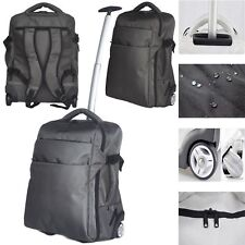 3 in 1 Lightweight Wheeled Cabin Size Trolley Bag Backpack Hand Luggage Holdall