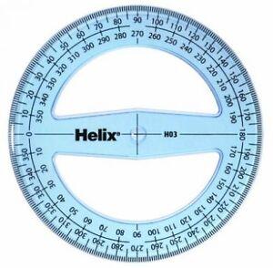 HELIX 10cm / 360 degree Protractor H03 - 100mm Diameter Angle Measure