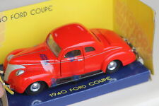 1940 Ford Coupe. MotorMax 73200 1:24 red die cast rare model.  New old stock.