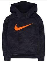 8fa88f591357 Nike Huge Swoosh Black Patterned Therma Pullover Hoodie sz 6 Boys NWT  FreeShip
