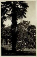 Arco Italien Cartolina Postkarte ~1930/40 Vegatazione Palmen Blick auf die Burg
