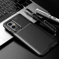 Pour oneplus 9 / 9 Pro 5G Étui, Slim Carbone Fibre Silicone Téléphone Housse