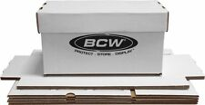 15 New 45 RPM Record Storage Box White BCW Cardboard Boxes Holds 150 Disc 7 Inch