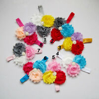Baby Girl Flower Hairband Soft Elastic Headband Ruffle Hair Band Accessories
