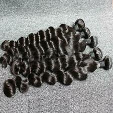 12AA RAW VIRGIN BRAZILIAN HUMAN HAIR DEEP LOOSE WAVE COLOUR 1b 8 TO 36 FAST SHIP