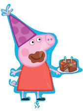 """33"""" PEPPA PIG & Torta Di Compleanno Supershape Lamina Palloncino Ideale Festa Decorazione"""