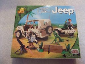 COBI, Set, Willis Jeep, mit Dach und Anhänger,  24190, neu und ungeöffnet