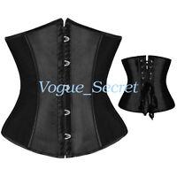 Womens Corset Top Waist Training Corsets Bustier Lace Up Black Plus Size S-6XL