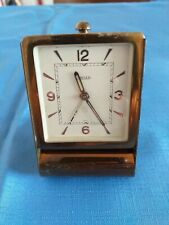 Jeager 1920s travel Alarm clock In Rose gold And In Excellent Condition working.