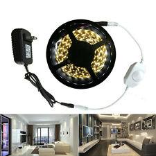 16.4FT LED Strip Flexible Light 2835 White/Warm White+Dimmer+Adapter for Cabinet