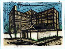 Lithographie Bernard BUFFET - L'Hôtel Fujita à Kyoto 1981 - signée numérotée