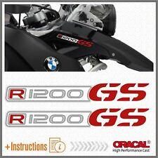 2x R1200GS White/Red BMW ADESIVI R1200 GS PEGATINA STICKERS AUTOCOLLANT R 1200