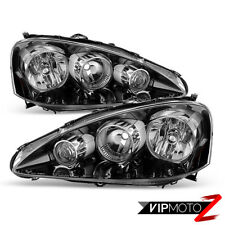 "For 05 06 Acura RSX Type S DC5 ""JDM BLACK"" Front Headlights Assembly LEFT RIGHT"