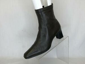 Stuart Weitzman Brown Leather Fashion Ankle Boots Booties Size 8.5 B