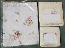 New Martex Atelier Twin Sheet Set Blanket Cover Pillowcase Flower Butterfly Lace