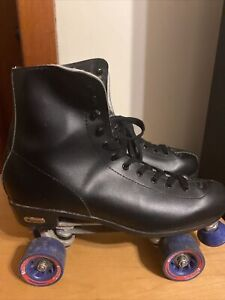 Chicago Black Roller Skates Black Toe Stops Mens Size 13