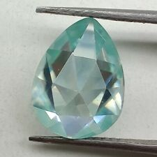 Rose Cut Loose Moissanite Use 4 Ring 1.74 Ct 9.41x6.88 Mm Vs1 Peacock Blue Pear