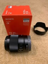 Sony FE 35mm F/1.8 - MINT Condition. Barely used.