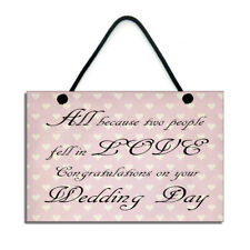 All Because Two People Fell In Love Wedding Day Gift Handmade Wedding Gift 312