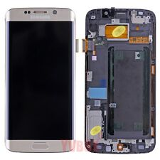 Gold A+ Samsung Galaxy S6 Edge G925T G925A LCD Touch Digitizer Screen + Frame