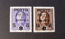 POLONIA, POLAND, POLSKA CRACOVIA 1919 Austrian OVP Segnatasse 2V. MH/VLH  Signed