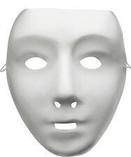 Plain white masque, être peint, matt finish, job lot lot de 6 troupe de danse robotique