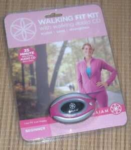 NEW Gaiam Walking Fit Kit PINK Walking Pedometer w CD Sculpt Tone Strengthen