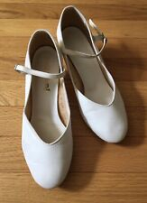 Prance Around Vintage Square Dance Rockabilly Shoes Womens size 6 W White Heels