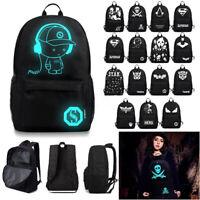 Unisex Backpack Rucksack Girls Boys School Bag Night Luminous Backpack Bookbag
