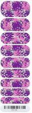 Jamberry Nail Wraps Half Sheet GLITZ Metallic Silver Purple Pink White RETIRED