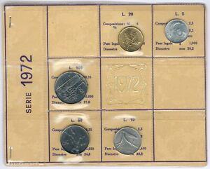 Italy 5Item´s/Coinset 1972 (Teil 2) UNC.-