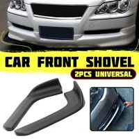 2x Car Front Shovel Bumper Splitter Diffuser Spoiler Wing Protector Universal