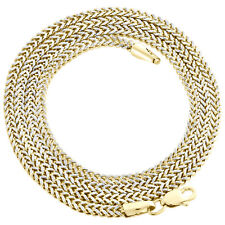 10K Yellow Gold 3D Diamond Cut Hollow Franco Box Chain 2.5mm Necklace 18-30 Inch