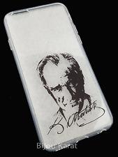 Atatürk Silikon Case Bumper Back Cover Apple Iphone 6 6S Kemal K.Atatürk Imza