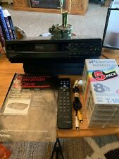 New listing Jc Penney Vcr Video Cassette Recorder 686-6192 With Manual,Remote,A/V Cords,Tape